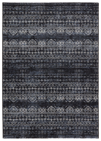 Ardor Trellis Dark Blue/ Gray Rug by Jaipur Living