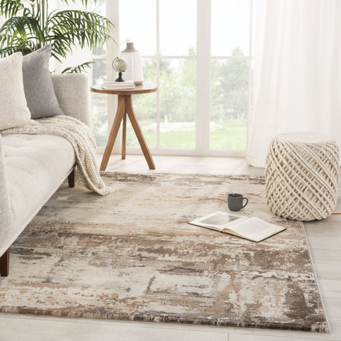 Buxton Abstract Brown/ Light Gray Rug by Jaipur Living