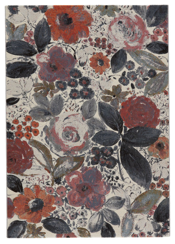 Beatrix Floral Rug in Blush & Ivory by Lauren Wan by Jaipur Living