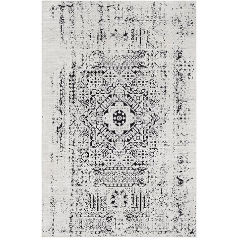 Dantel DTL-2318 Rug in Silver Grey & Black by Surya