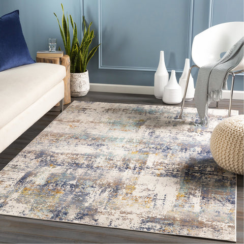 Dublin DUB-2300 Rug in White & Navy by Surya