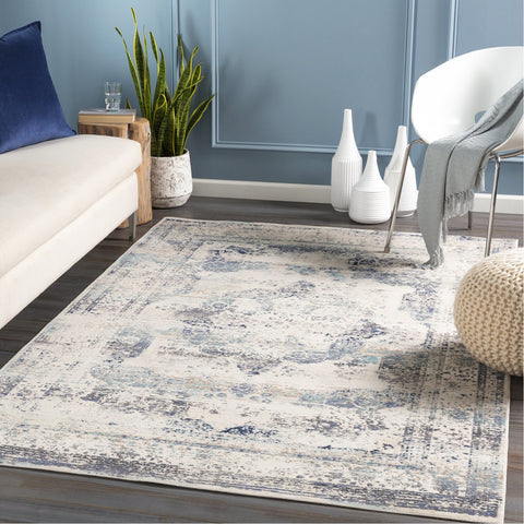 Dublin DUB-2304 Rug in White & Medium Grey by Surya
