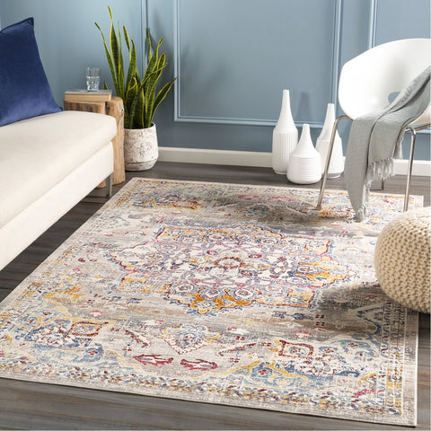 Dublin DUB-2308 Rug in Medium Grey & Saffron by Surya