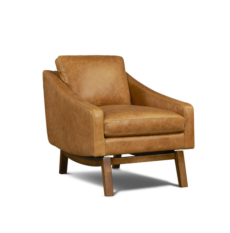 Dutch Leather Chair in Badger