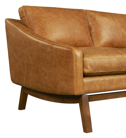 Dutch Leather Sofa in Badger