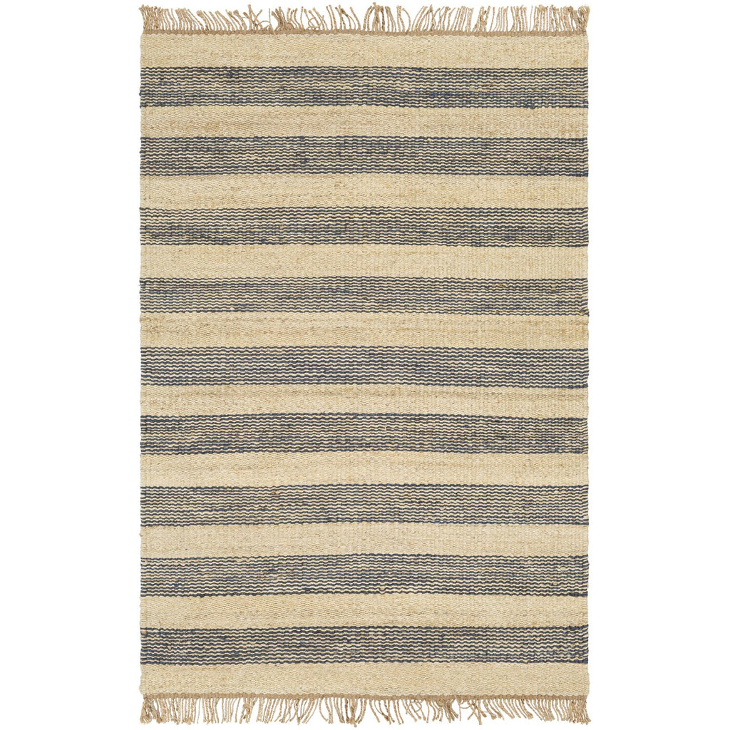 Davidson II DVN-2006 Hand Woven Rug in Navy & Cream by Surya