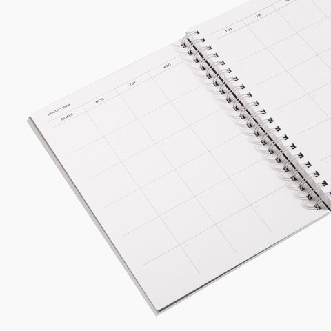 Daily Weekly Monthly Planner, Small in Tubes