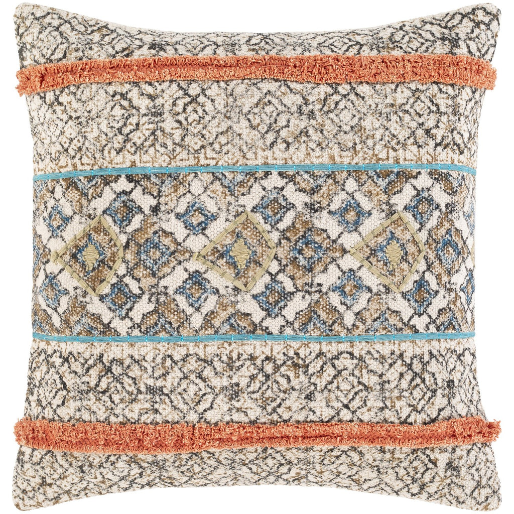 Dayna DYA-003 Woven Pillow in Beige & Tan by Surya