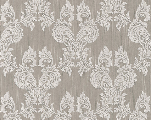 Damask Floral Wallpaper in Grey and Neutrals design by BD Wall