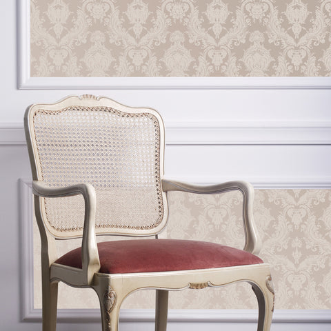 Damsel Textured Self Adhesive Wallpaper in Bisque design by Tempaper
