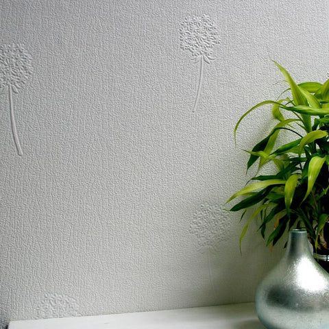 Dandelion Brush Paintable Textured Wallpaper design by Brewster Home Fashions