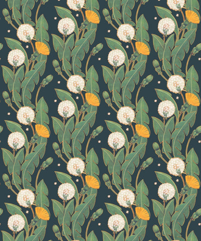 Dandelions Wallpaper in Summer Nights from the Wallpaper Republic Collection by Milton & King