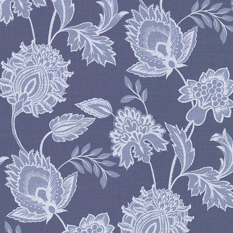 Danfi Blue Jacobean Wallpaper from the Savor Collection by Brewster Home Fashions