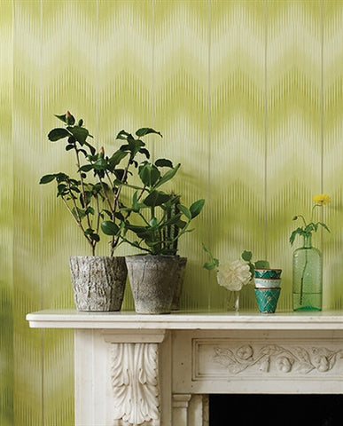 Danzon Wallpaper in Jade by Matthew Williamson for Osborne & Little