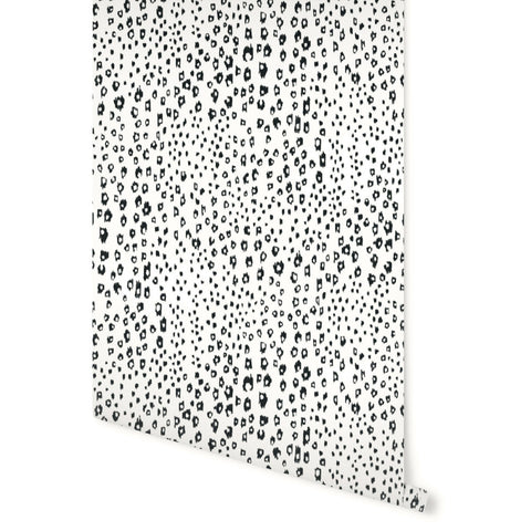 Dappled Wallpaper in Black and White by Stacey Day