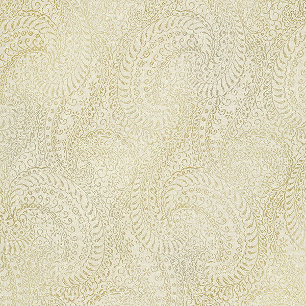 Sample Daraxa Beige Paisley Wallpaper from the Alhambra Collection by Brewster Home Fashions