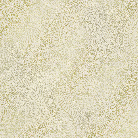 Daraxa Beige Paisley Wallpaper from the Alhambra Collection by Brewster Home Fashions