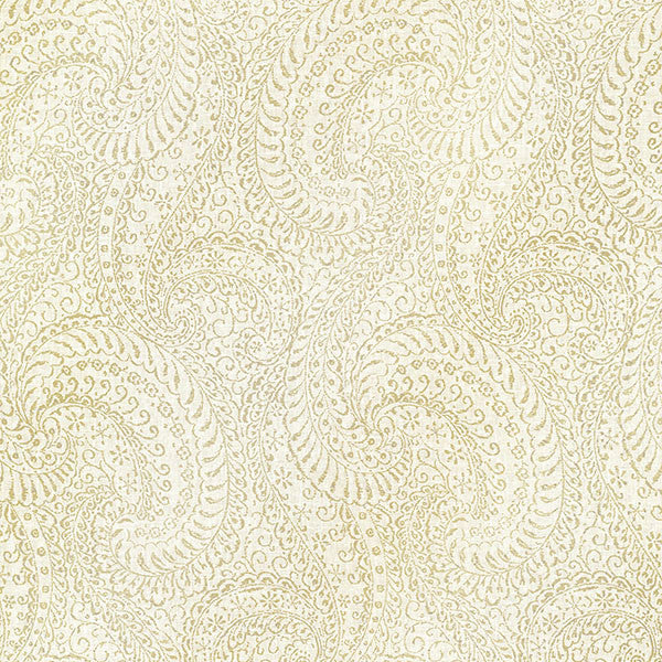 Sample Daraxa Light Grey Paisley Wallpaper from the Alhambra Collection by Brewster Home Fashions