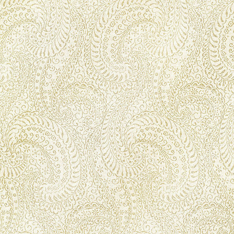 Daraxa Light Grey Paisley Wallpaper from the Alhambra Collection by Brewster Home Fashions