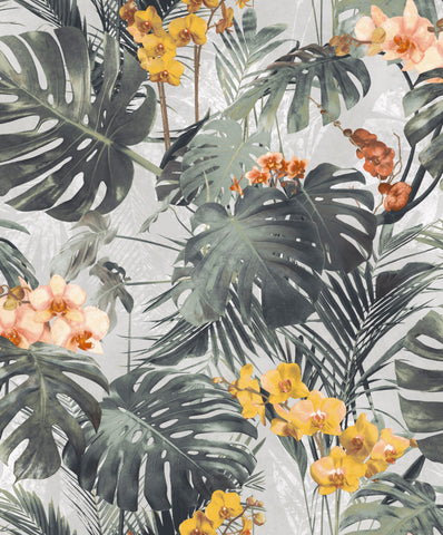 Sample Dark Green Monstera Leaf Wallpaper by Walls Republic