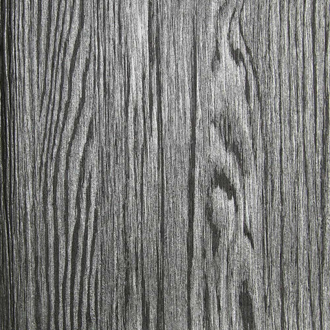 Dark Grey and Silver Textured Wood Grain Wallpaper by Julian Scott Designs