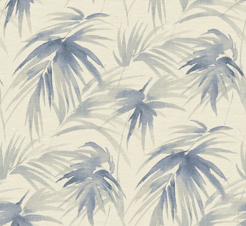 Darlana Grasscloth Wallpaper in Blue from the Scott Living Collection by Brewster Home Fashions