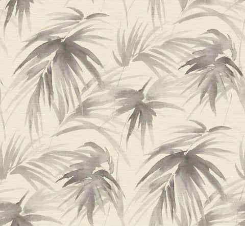 Darlana Grasscloth Wallpaper in Pewter from the Scott Living Collection by Brewster Home Fashions
