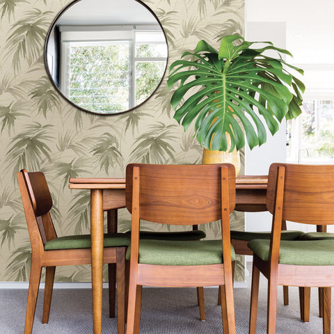 Darlana Grasscloth Wallpaper in Sage from the Scott Living Collection by Brewster Home Fashions