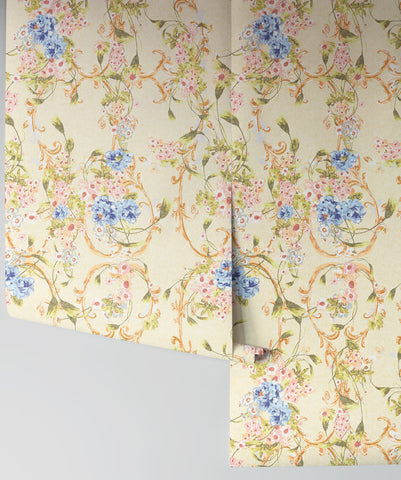 Dashwood Wallpaper in Chateau by Sixhands for Milton & King