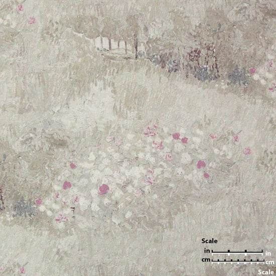 Daubigny's Garden Wallpaper in Beige and Pink from the Van Gogh Collection by Burke Decor