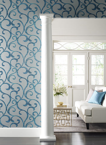 Dazzling Coil Wallpaper by York Wallcoverings