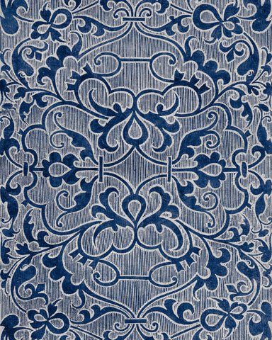 Deco Trellis Wallpaper in Indigo from the Wallpaper Compendium Collection by Mind the Gap
