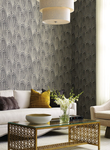 Deco Fountain Wallpaper from the Candice Olson Journey Collection by York Wallcoverings