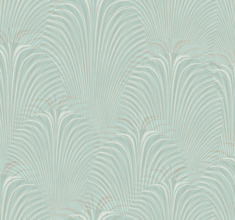 Deco Fountain Wallpaper in Blue from the Candice Olson Journey Collection by York Wallcoverings