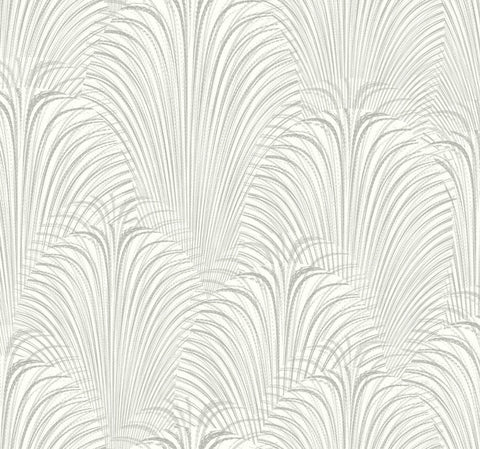 Deco Fountain Wallpaper in White from the Candice Olson Journey Collection by York Wallcoverings