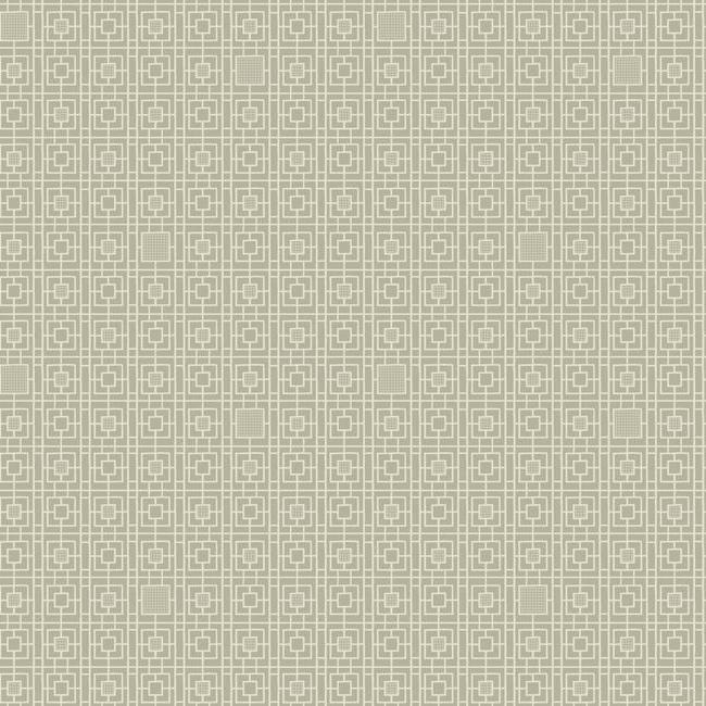 Sample Deco Screen Wallpaper in Beige and Brown from the Deco Collection by Antonina Vella for York Wallcoverings
