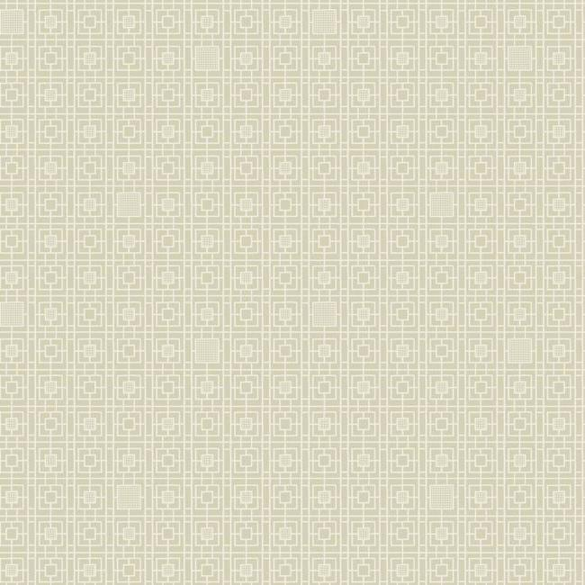 Deco Screen Wallpaper in Beige and Ivory from the Deco Collection by Antonina Vella for York Wallcoverings