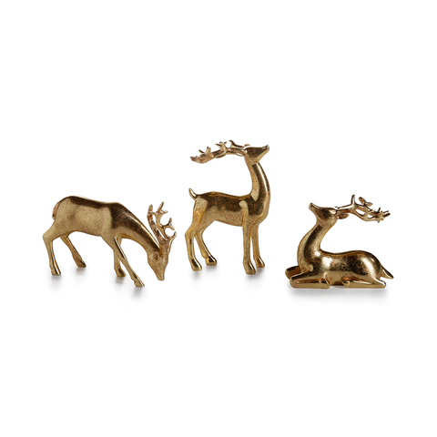 Decorative Gold Reindeer Set