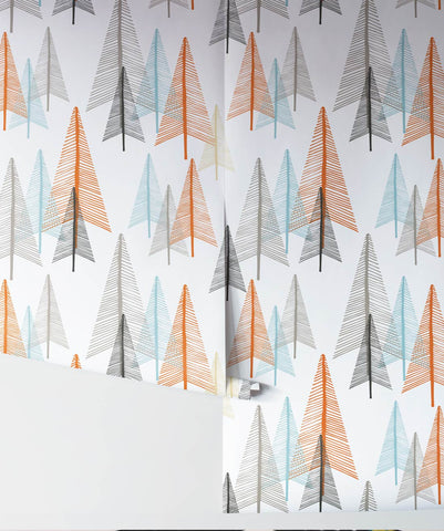 Deep In The Forest Wallpaper in Autumn from the Wallpaper Republic Collection by Milton & King
