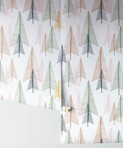Deep In The Forest Wallpaper in Tranquil from the Wallpaper Republic Collection by Milton & King