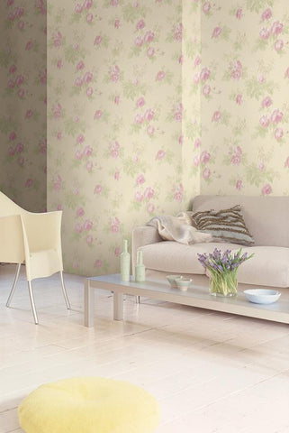 Degas Flowers Wallpaper from the Watercolor Florals Collection by Mayflower Wallpaper