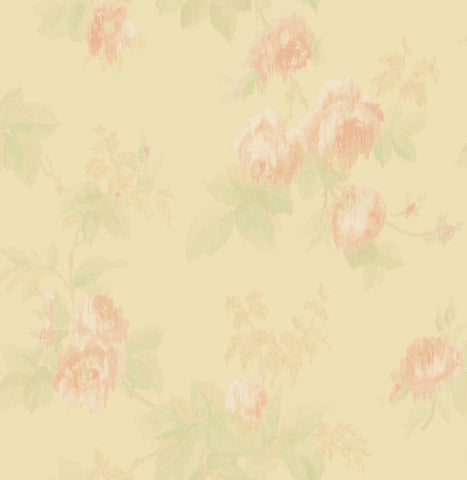 Degas Flowers Wallpaper in Blush and Sand from the Watercolor Florals Collection by Mayflower Wallpaper