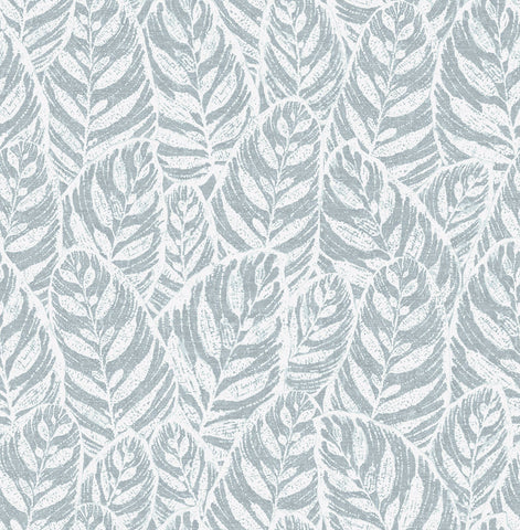 Del Mar Botanical Wallpaper in Light Blue from the Scott Living Collection by Brewster Home Fashions