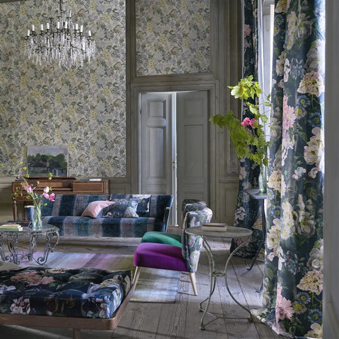 Delft Flower Wallpaper from the Tulipa Stellata Collection by Designers Guild