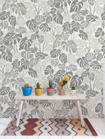 Deliciosa Wallpaper in Smoke design by Aimee Wilder