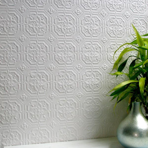 Derby Paintable Anaglypta Wallpaper Design By Brewster Home Fashions ...