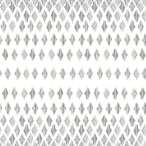 Diamond Ombre Wallpaper in Black and White from the Simply Farmhouse Collection by York Wallcoverings
