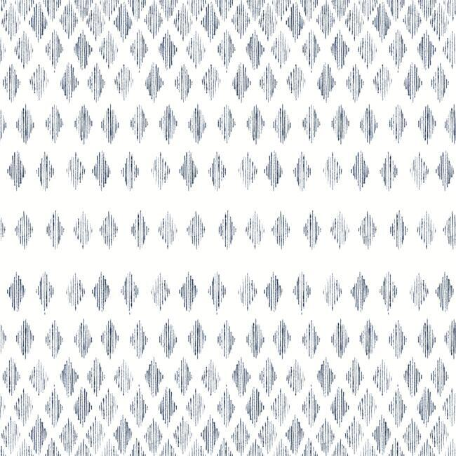 Diamond Ombre Wallpaper in Navy and White from the Simply Farmhouse Collection by York Wallcoverings