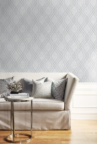 Diamond Geo Wallpaper from the Casa Blanca II Collection by Seabrook Wallcoverings