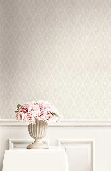 Diamond Lattice Wallpaper from the Spring Garden Collection by Wallquest